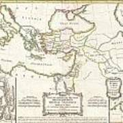 1771 Bonne Map Of The New Testament Lands Holy Land And Jerusalem Art Print