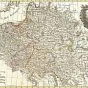 1771 Zannoni Map Of Poland And Lithuania Art Print