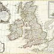 1771 Zannoni Map Of The British Isles  Art Print