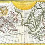 1772 Vaugondy And Diderot Map Of The Pacific Northwest And The Northwest Passage Art Print by Paul Fearn
