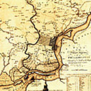 1777 Philadelphia Map Art Print