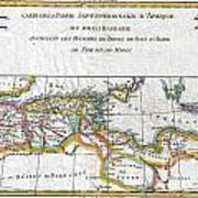 1780 Raynal And Bonne Map Of The Barbary Coast Of Northern Africa Art Print