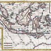 1780 Raynal And Bonne Map Of The East Indies Singapore Java Sumatra Borneo Art Print