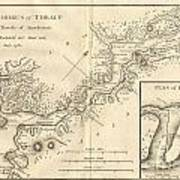 1784 Bocage Map Of The Bosphorus And The City Of Byzantium  Istanbul  Constantinople Art Print