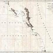 1786 La Perouse Map Of Vancouver And British Columbia Canada Art Print