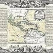 1788 Brion De La Tour Map Of Mexico Central America And The West Indies Art Print
