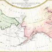 1788 Schraembl Map Of The Northwest Passage Art Print