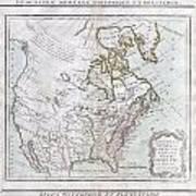 1789 Brion De La Tour Map Of North America Art Print