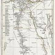 1794 Anville Map Of Ancient Egypt  Art Print