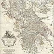 1794 Anville Map Of Ancient Greece  Art Print