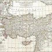 1794 Anville Map Of Asia Minor In Antiquity Art Print