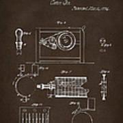 1794 Eli Whitney Cotton Gin Patent 2 Espresso Art Print