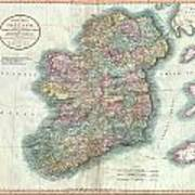 1799 Cary Map Of Ireland  Art Print