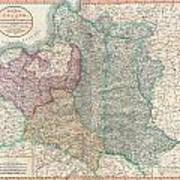 1799 Cary Map Of Poland Prussia And Lithuania  Art Print
