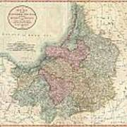 1799 Cary Map Of Prussia And Lithuania  Art Print