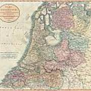 1799 Cary Map Of The Netherlands Art Print
