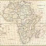 1799 Clement Cruttwell Map Of Africa  Art Print