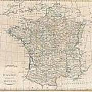 1799 Clement Cruttwell Map Of France In Provinces Art Print