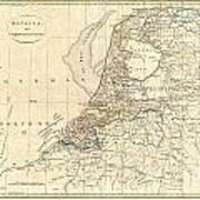 1799 Clement Cruttwell Map Of Holland Or The Netherlands Art Print