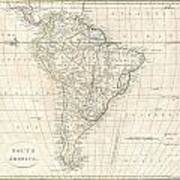 1799 Clement Cruttwell Map Of South America  Art Print