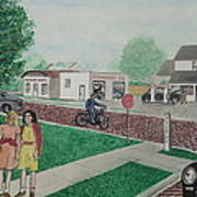 17th And Hutchins Street Portsmouth Ohio Art Print