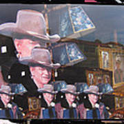 21 Duke's John Wayne Cardboard Cutout Collage Tombstone  Arizona 2004-2009 Art Print