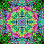 Rainbow Light Mandala Art Print