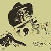 The Jazz Flutist Art Print