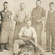 1800's Vintage Photo Of Blacksmiths Art Print