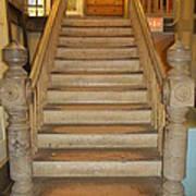 1800's Vintage Stairs Art Print