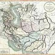 1801 Cary Map Of Persia  Iran Iraq Afghanistan Art Print