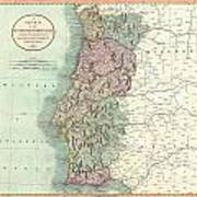 1801 Cary Map Of Portugal Art Print