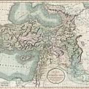 1801 Cary Map Of Turkey Iraq Armenia And Sryia Art Print