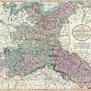 1801 Cary Map Of Upper Saxony Germany  Berlin Dresden Art Print