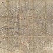 1802 Chez Jean Map Of Paris In 12 Municipalities France Art Print