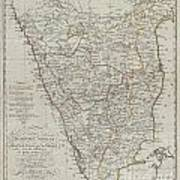 1804 German Edition Of The Rennel Map Of India Art Print