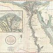 1805 Cary Map Of Egypt Art Print