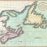 1807 Cary Map Of Nova Scotia And Newfoundland Art Print