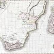 1809 Pinkerton Map Of Southern Africa Art Print