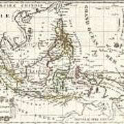 1810 Tardieu Map Of The East Indies Singapore Southeast Asia Sumatra Borneo Java Art Print