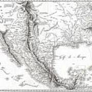 1811 Humboldt Map Of Mexico Texas Louisiana And Florida Art Print