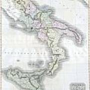 1814 Thomson Map Of Southern Italy Art Print