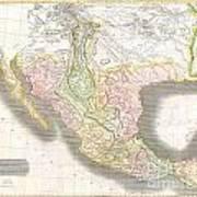 1814 Thomson Map Of Texas Mexico  Louisiana Art Print