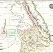 1818 Pinkerton Map Of Abyssinia  Ethiopia  Sudan And Nubia Art Print