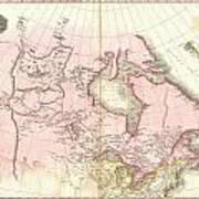 1818 Pinkerton Map Of British North America Or Canada Art Print