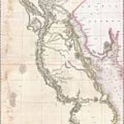 1818 Pinkerton Map Of Egypt Art Print