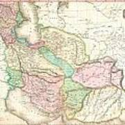 1818 Pinkerton Map Of Persia  Art Print