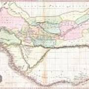 1818 Pinkerton Map Of Western Africa  Art Print