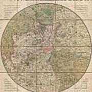1820 Mogg Pocket Or Case Map Of London Art Print