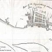1820 Yates Map Of Albany Circa 1770 Art Print